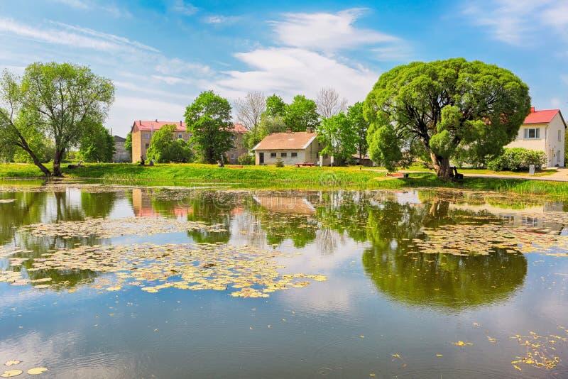 村庄Kabile,拉脱维亚 免版税库存图片