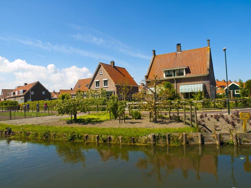 村庄marken荷兰scenics 免版税图库摄影