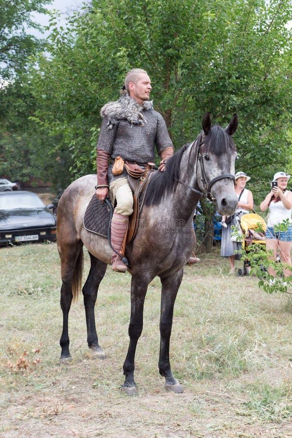村庄Vesele,新卡霍夫卡,乌克兰, 2018年7月9日, 库存图片