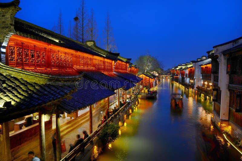 水村庄Wuzhen古镇 库存图片