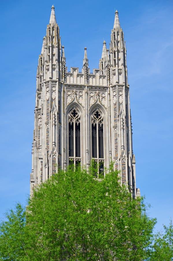 杜克大学教堂 库存图片