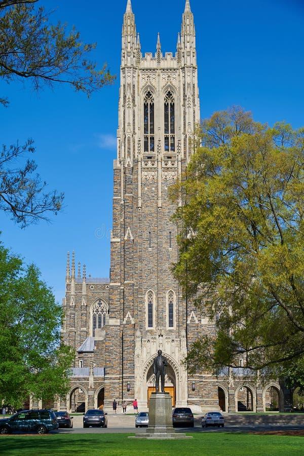杜克大学教堂 库存照片