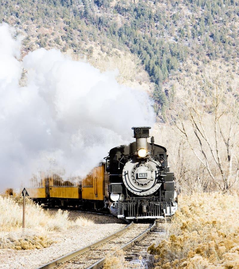 杜兰戈和希尔弗顿窄轨铁路公司,美国科罗拉多州 免版税库存照片