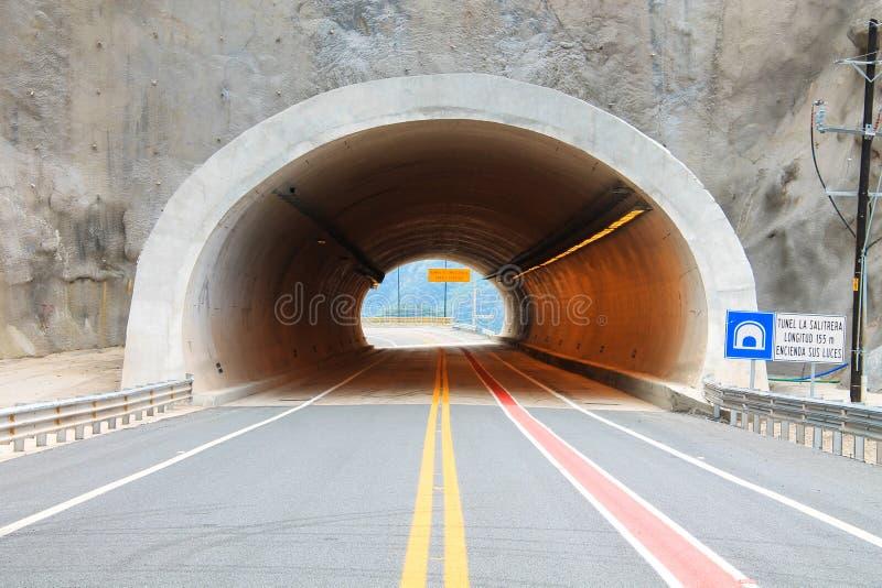 杜兰戈mazatlan高速公路的隧道 免版税图库摄影