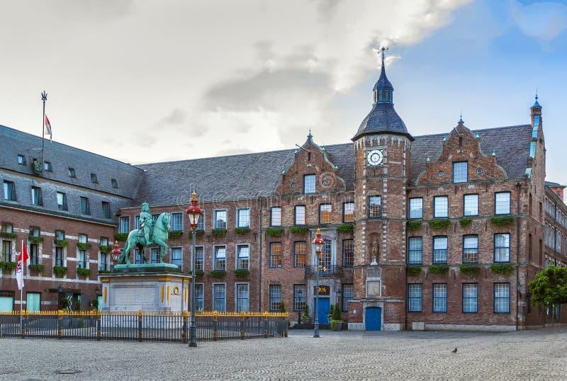 杜塞尔多夫,德国市政厅  免版税图库摄影
