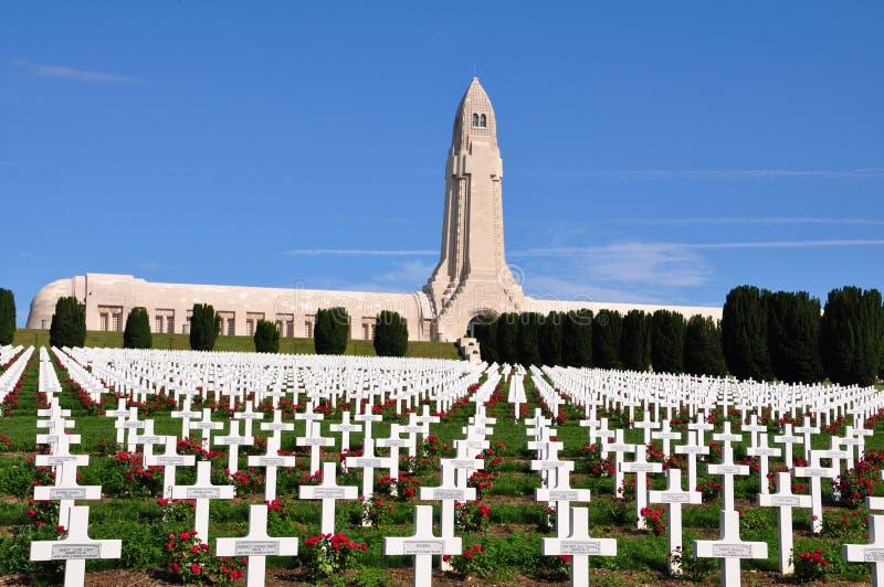 杜奥蒙Ossuaire纪念品在凡尔登,法国 图库摄影