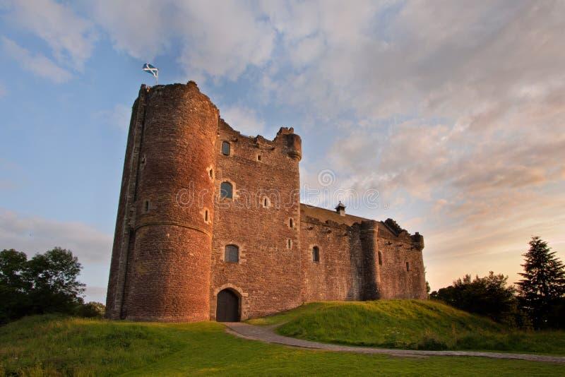 杜恩城堡, Stirlingshire,苏格兰 库存照片