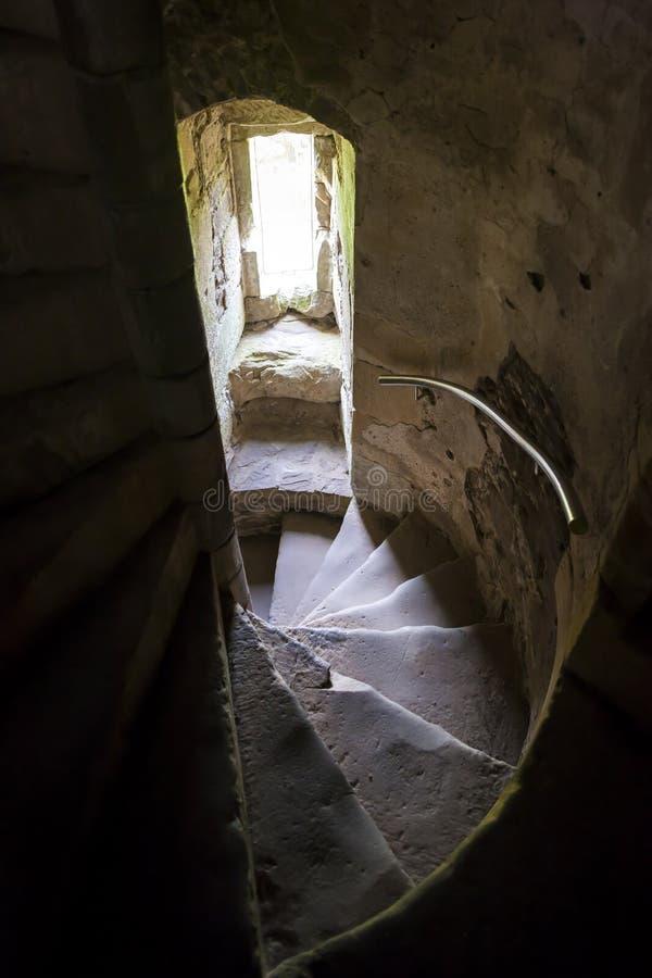 杜恩城堡,Stirlingshire,苏格兰楼梯  库存图片