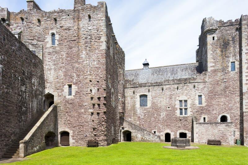杜恩城堡,Stirlingshire,苏格兰 免版税库存照片