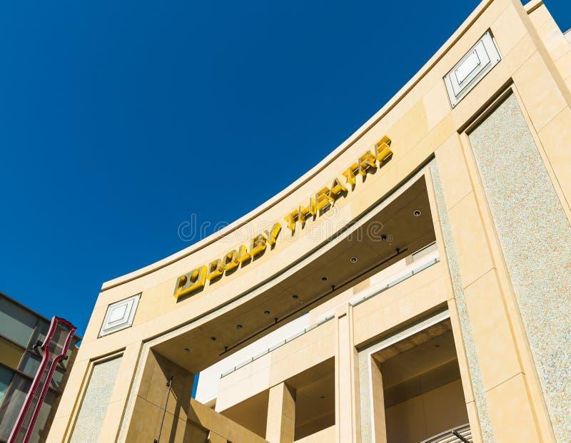 杜比剧院和硬石餐厅在好莱坞大道 库存图片