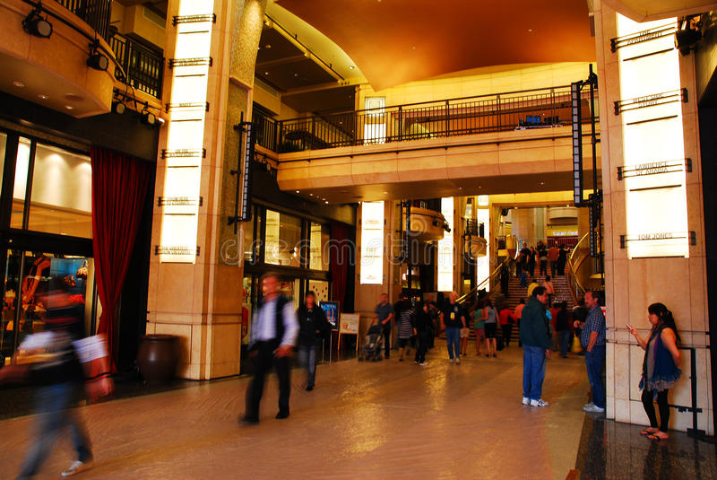 杜比剧院大厅 免版税库存照片