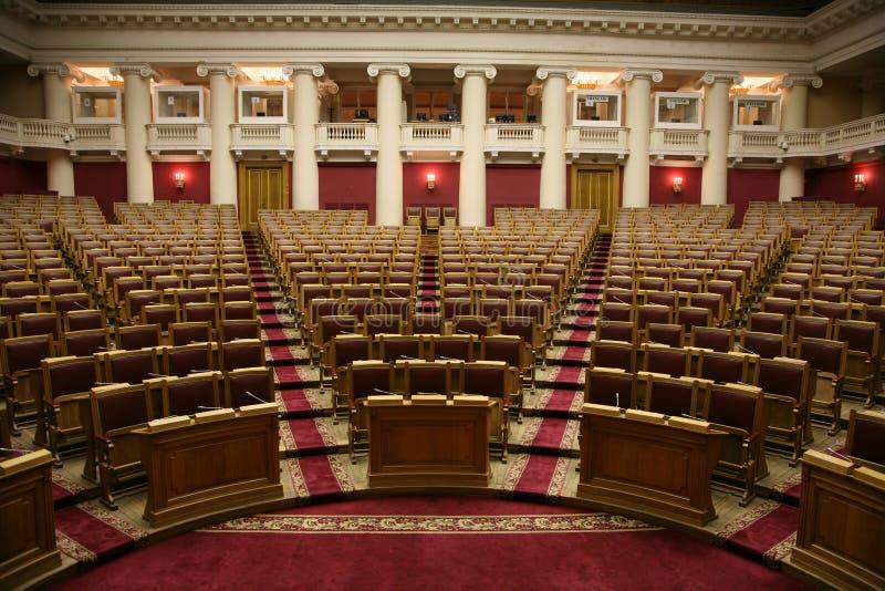 杜马的历史的会议室在Tauride宫殿在圣彼德堡,俄罗斯 库存图片