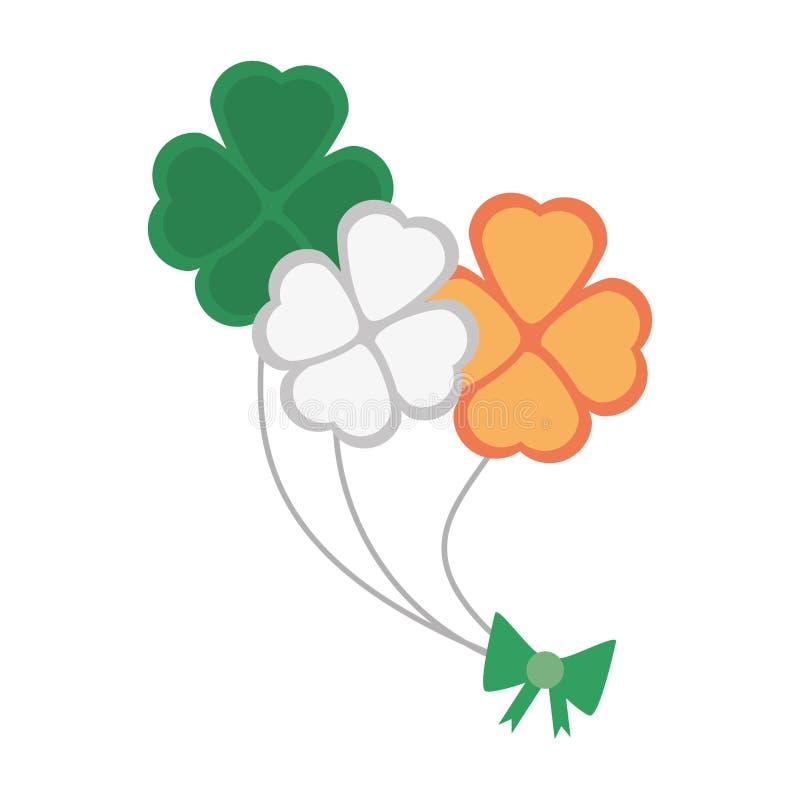 束三叶草旗子爱尔兰st patricks天 向量例证