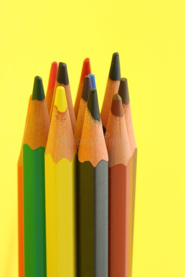 束五颜六色的铅笔 免版税图库摄影