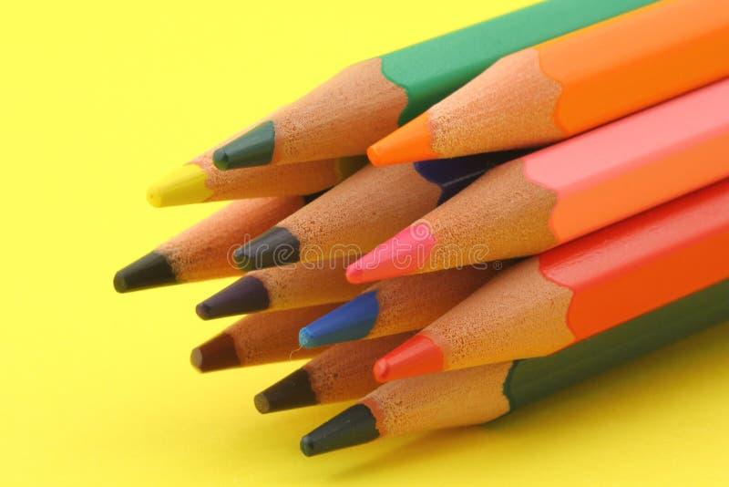 束五颜六色的铅笔 免版税库存图片