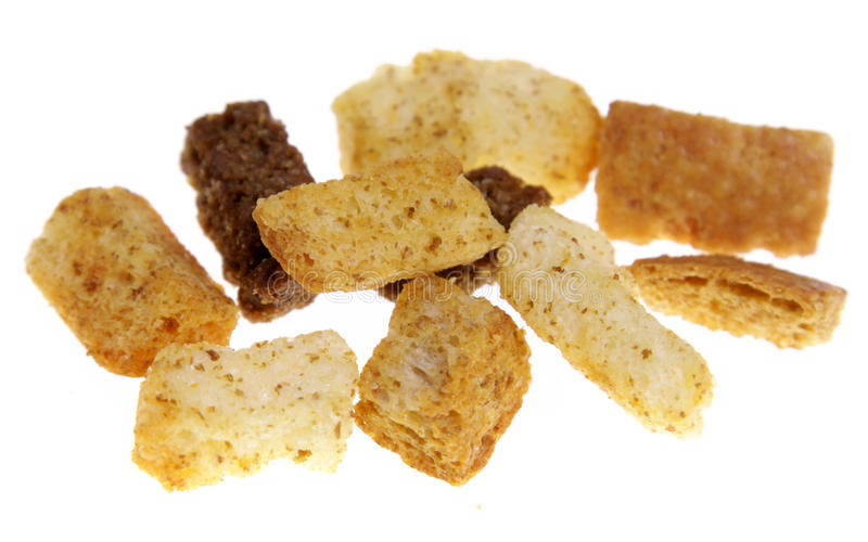 束油煎方型小面包片 免版税库存照片