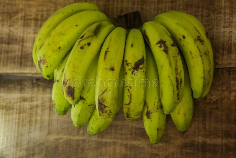 束的顶视图图象香蕉 库存照片