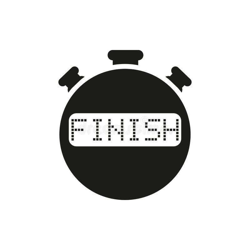 结束秒表象 时钟和手表,定时器,读秒标志 Ui 网 徽标 标志 平的设计 阿帕卢萨马 库存例证
