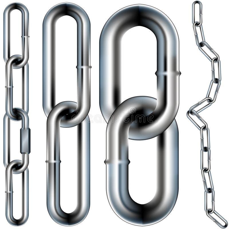 束缚例证连结无缝的向量 库存例证