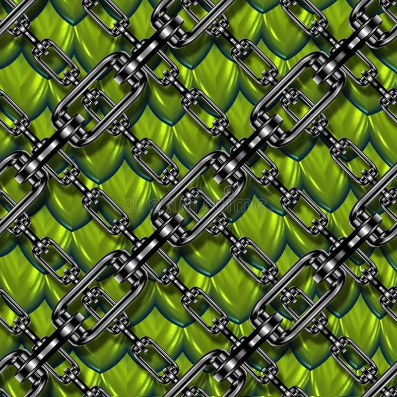 束缚在龙缩放比例下 向量例证