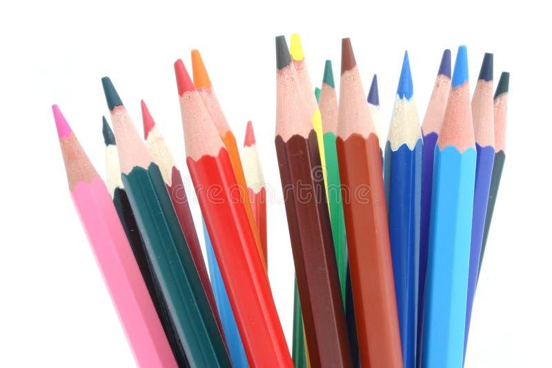 束色的铅笔 图库摄影