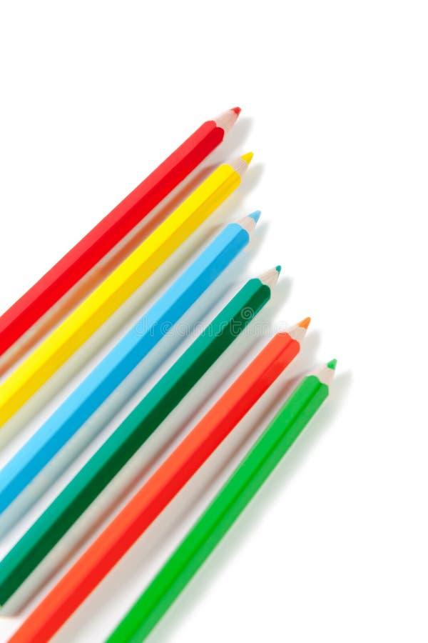 束色的铅笔 库存照片
