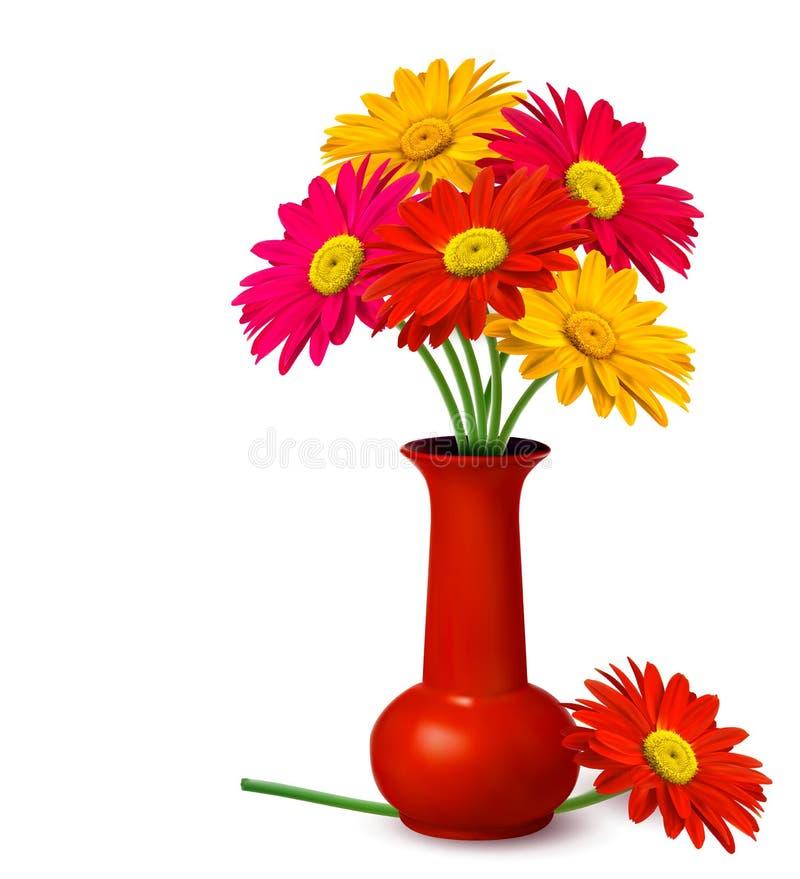 束花瓶 向量例证
