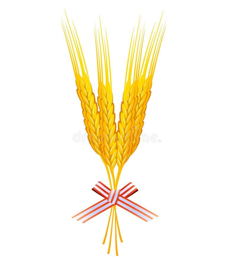 束起谷物向量麦子 库存例证