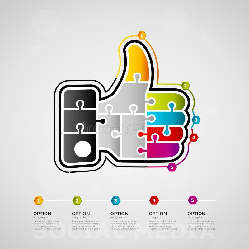 束起通信有概念的交谈媒体人社交 向量例证