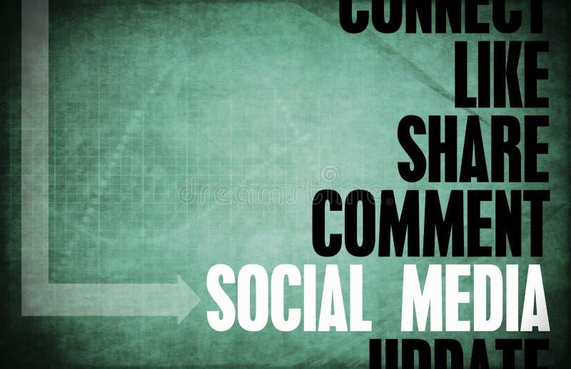 束起通信有概念的交谈媒体人社交 皇族释放例证