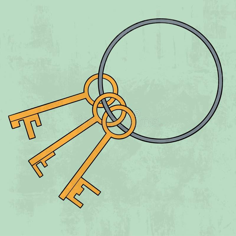 束锁上老 图标 也corel凹道例证向量 向量例证