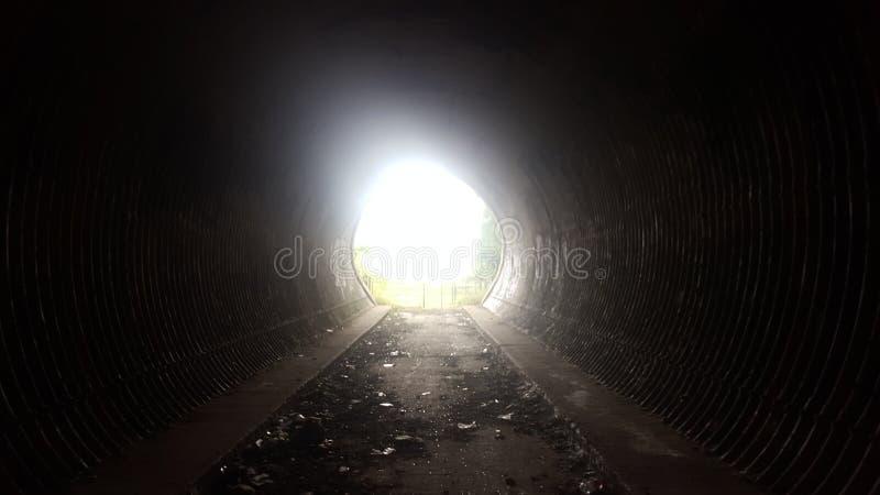 结束隧道 库存照片