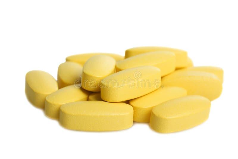 束黄色维生素 库存照片