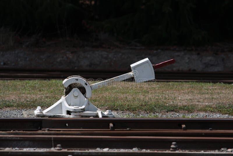 杠杆铁路切换 免版税图库摄影