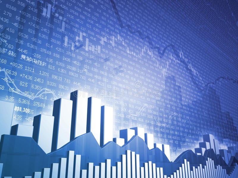 条形图数据金融市场股票 向量例证