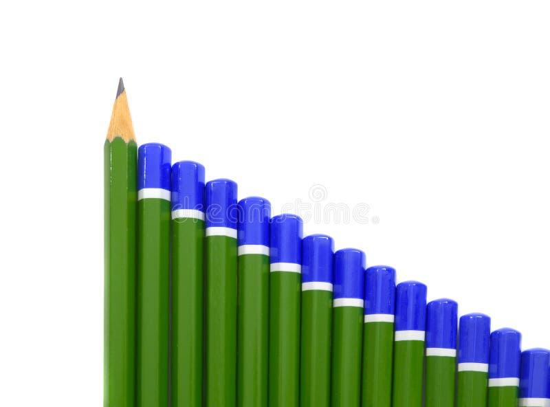条形图铅笔 免版税库存照片