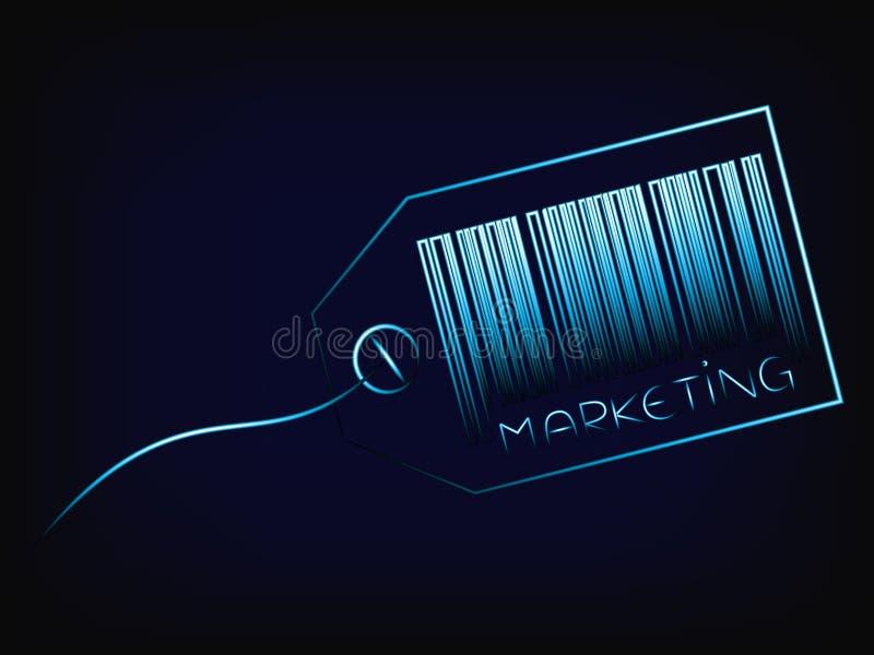条形码与词行销的产品标记 库存例证