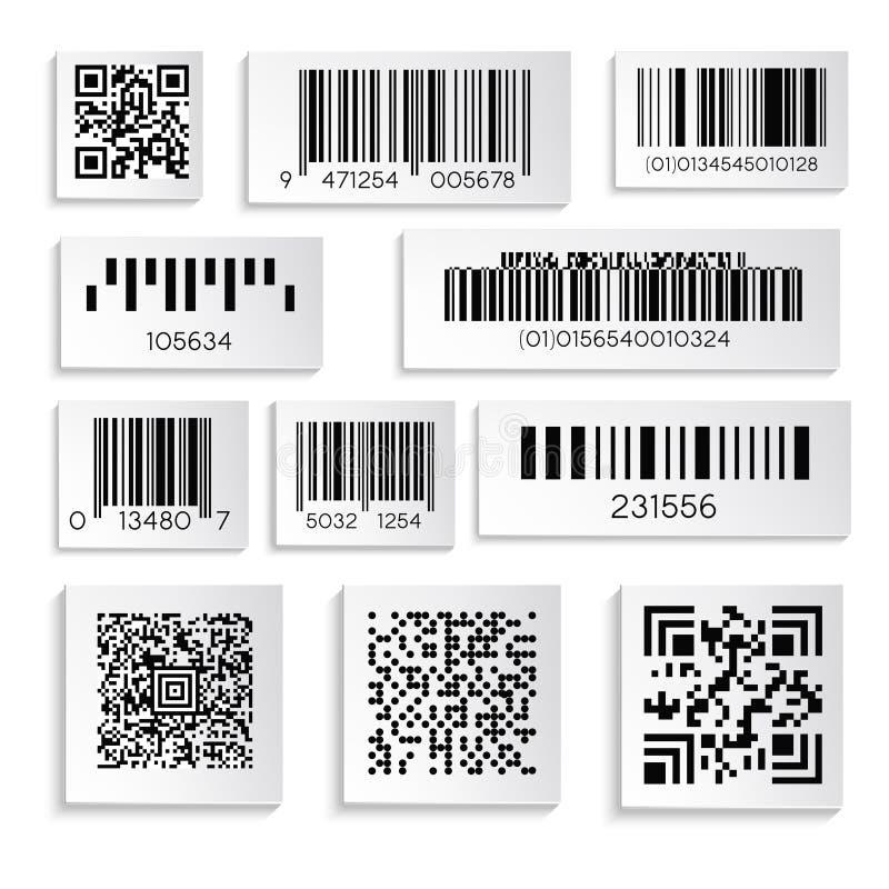 条形码或产品贴纸与暗号或编号隔绝了象 库存例证