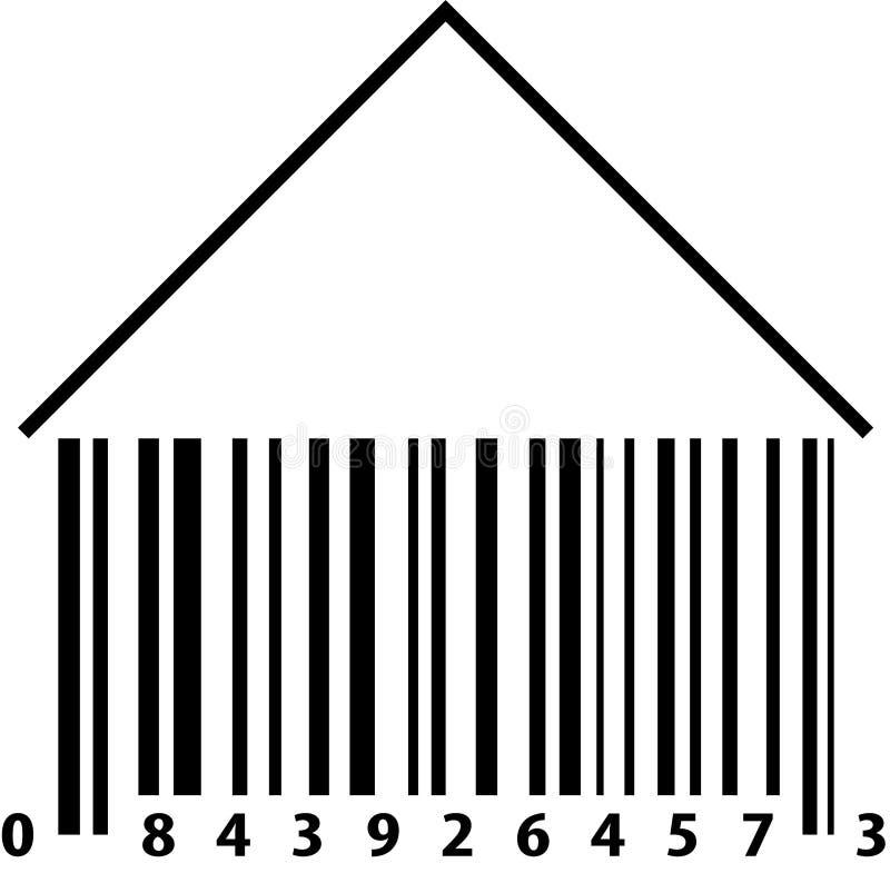 条形码房子 图库摄影
