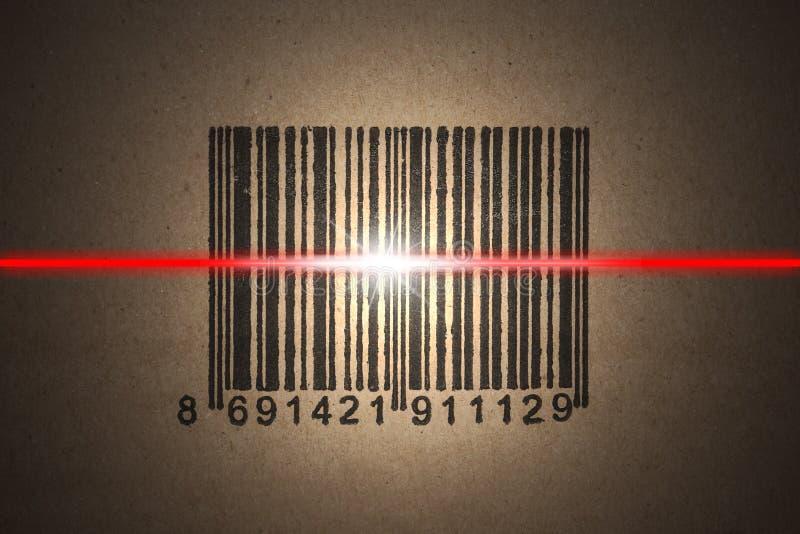 条形码扫描 免版税库存照片