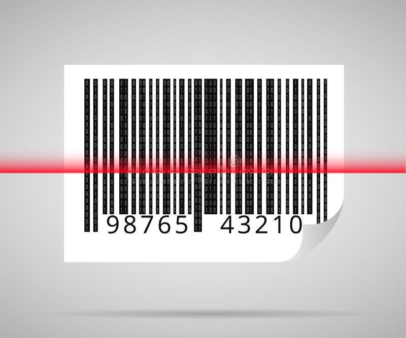 条形码扫描 库存例证