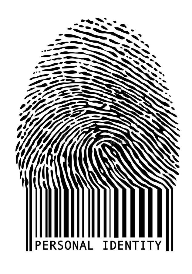 条形码指纹 库存例证