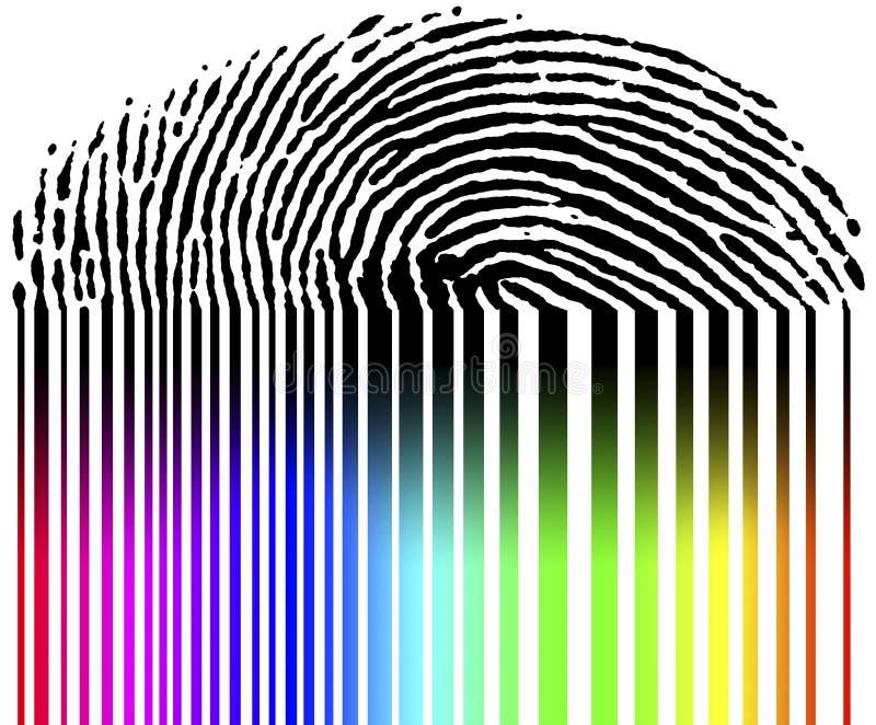 条形码指纹 向量例证