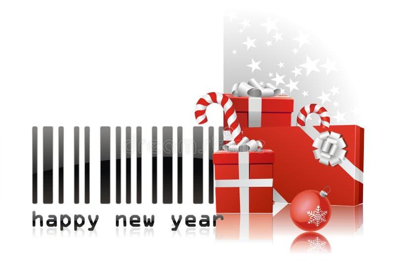 条形码新年度 向量例证