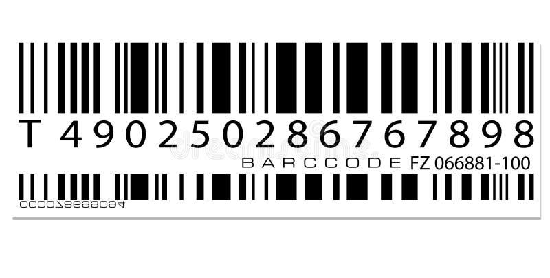 条形码标签 向量例证
