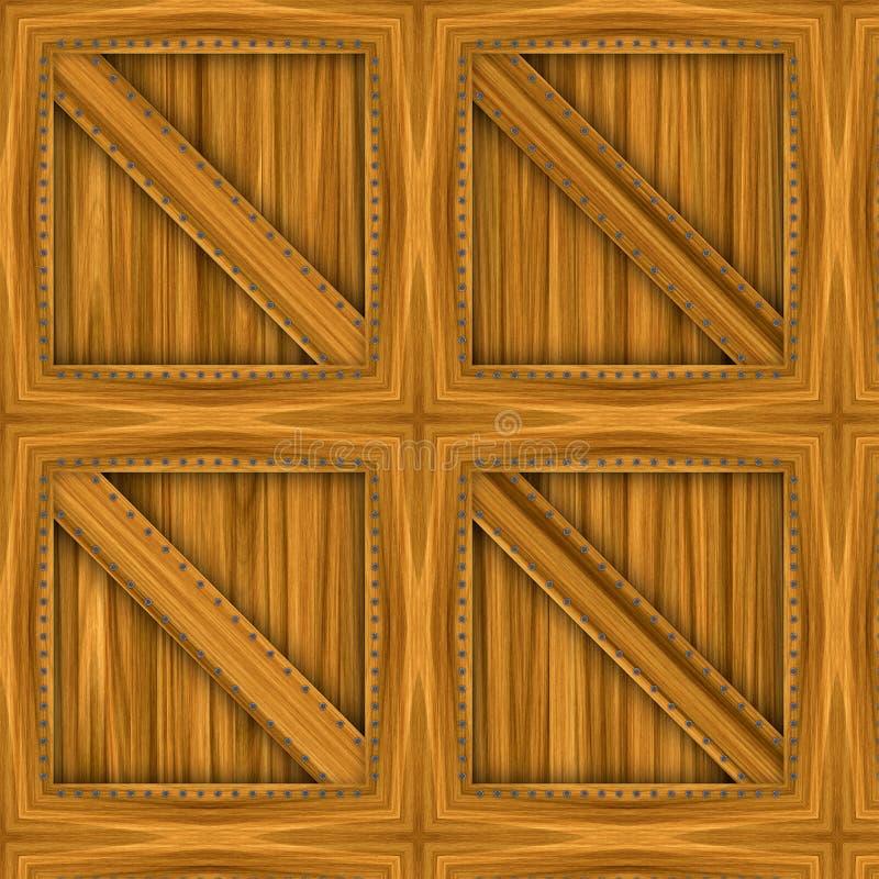 条板箱副木 向量例证