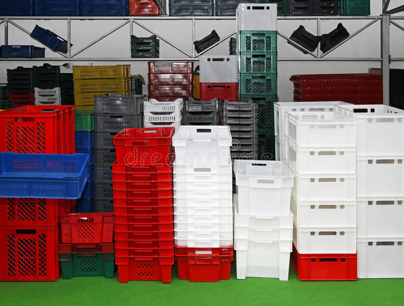 条板箱和配件箱 免版税库存图片