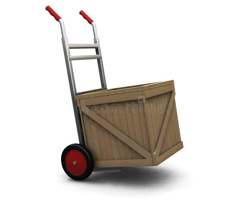 条板箱手推车 向量例证