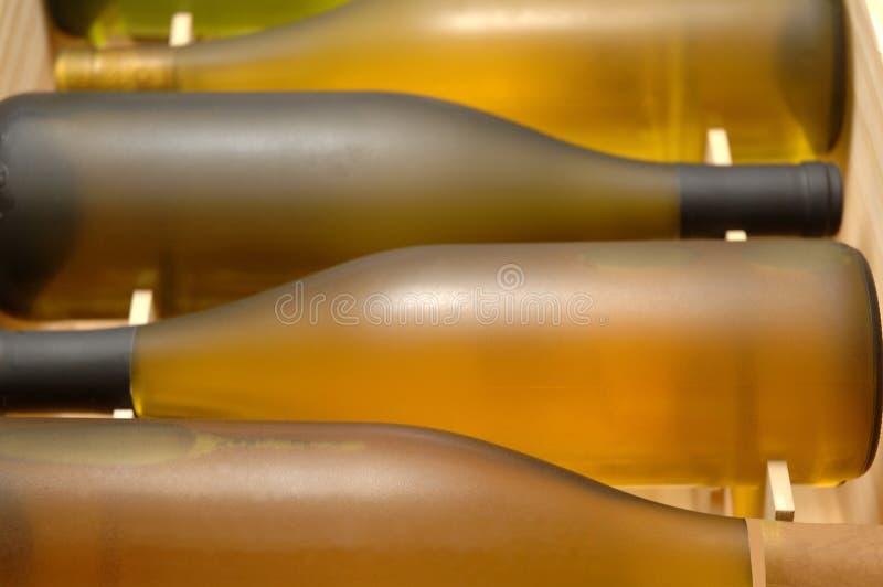 条板箱水平的酒 免版税库存图片