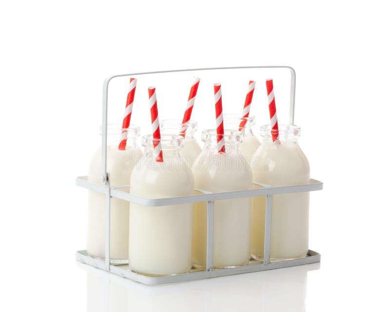 条板箱牛奶 库存图片